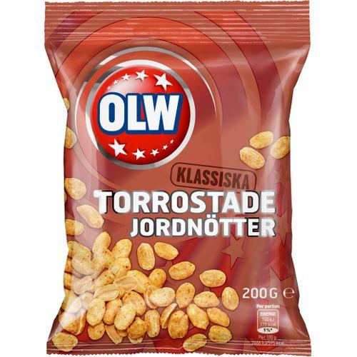 OLW Torrostade Jordnötter 200g