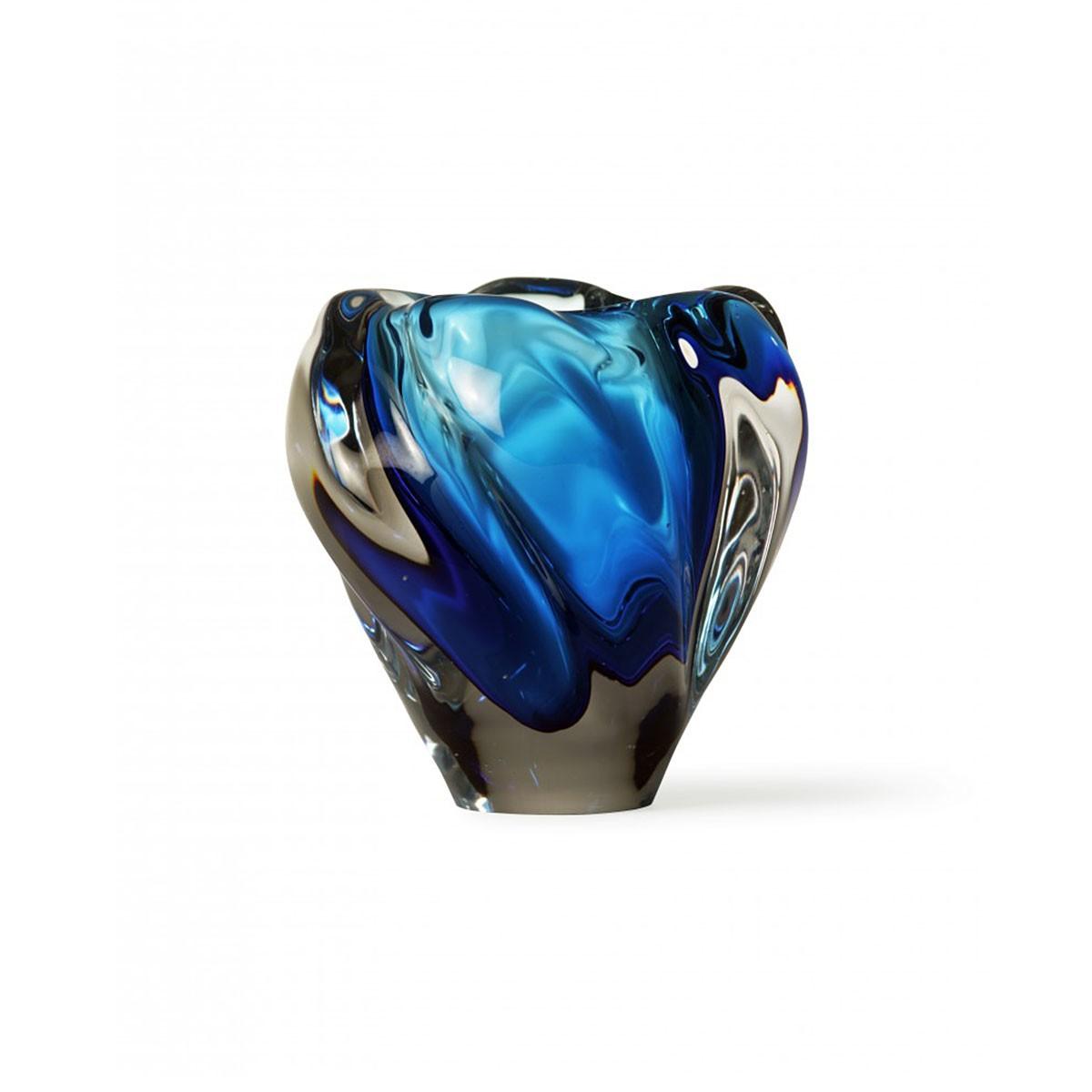 Porta Romana I Small Peony Vase | Cobalt
