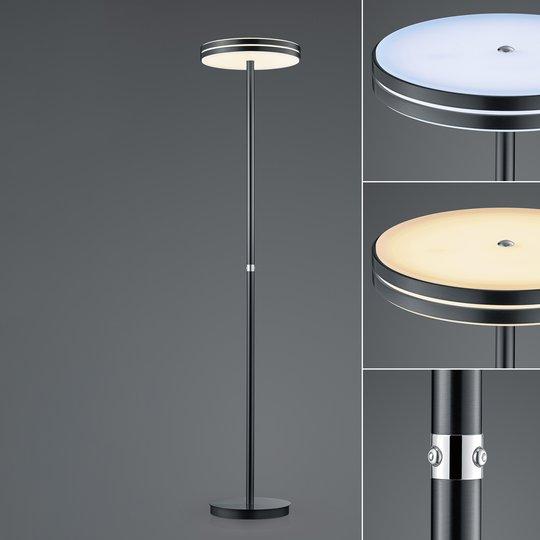 BANKAMP Gem LED-gulvlampe, dimmer, antrasitt