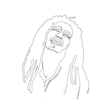 Poster LW Icons Bob Marley