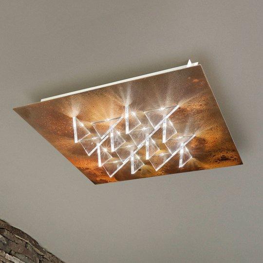Vaikuttava LED-kattolamppu Cristalli, ruoste