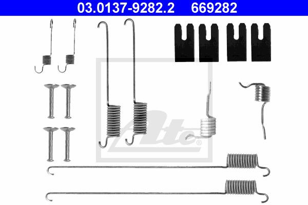 Tarvikesarja, jarrukengät ATE 03.0137-9282.2