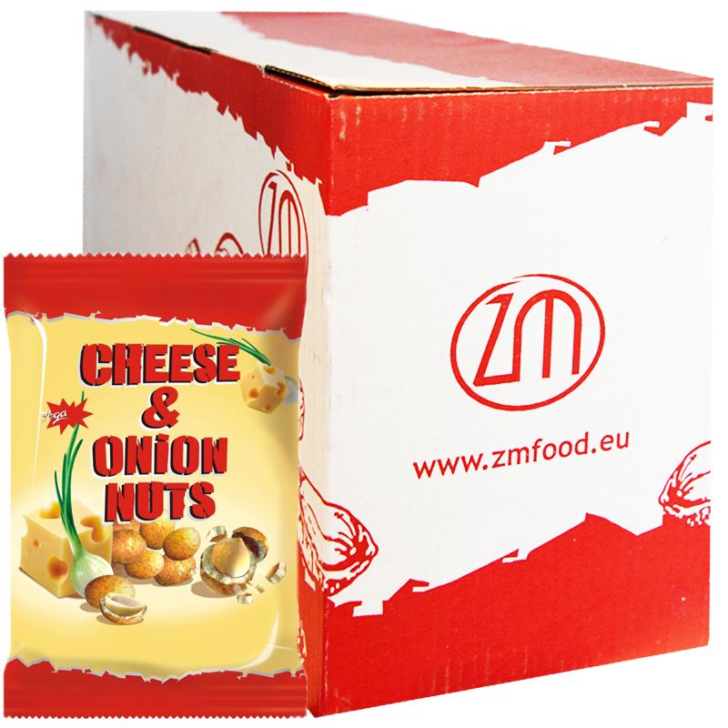 "Hel Låda Jordnötter ""Cheese & Onion"" 10 x 70g - 63% rabatt"