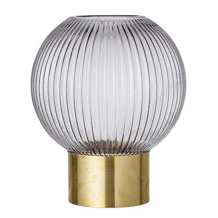 Vase Grey Glass Ø18x25 cm