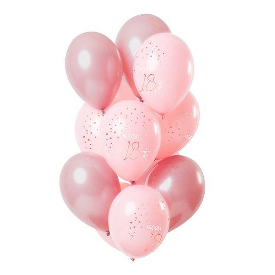 Latexballonger Happy 18th Lush Blush - 12-pack