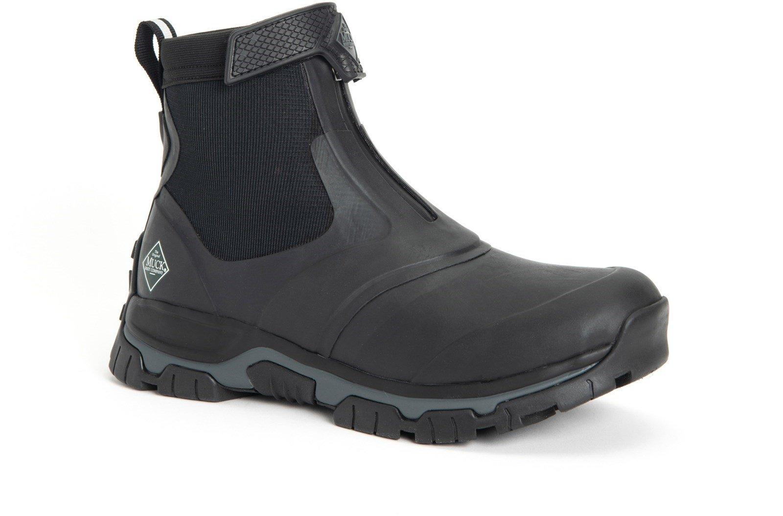 Muck Boots Unisex Apex Mid Zip Boot Various Colours 30981 - Black/Dark Shadow 6