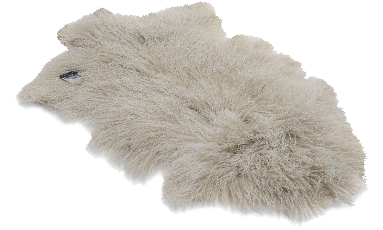 Shansi saueskinn - lysegrå snowtop