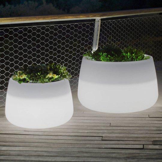 Newgarden Camelia 60 plantekar LED solcelle+batt.