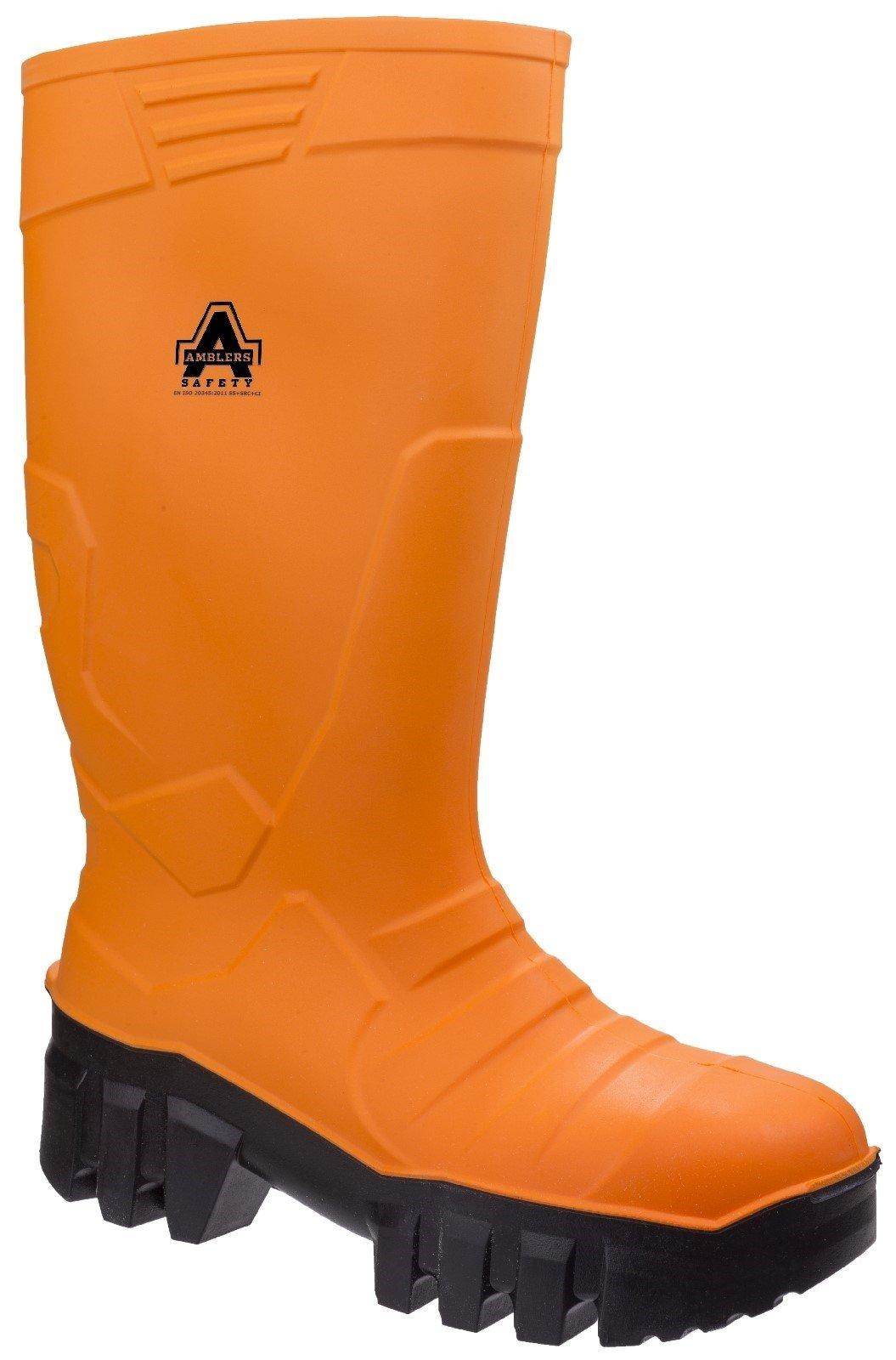 Amblers Unisex Safety SRC Wellington Boot Orange 27689 - Orange 4
