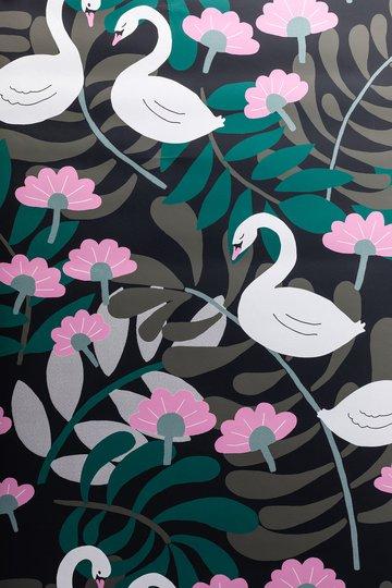 Petite Déco Tapet Swan, Svart