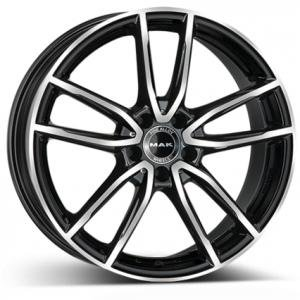 MAK Evo Black Polished 10x21 5/112 ET44 B66.6