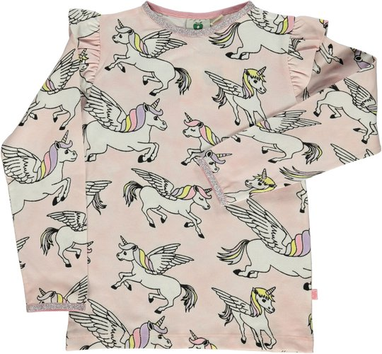 Småfolk Enhjørning T-Skjorte, Silver Pink 1-2år