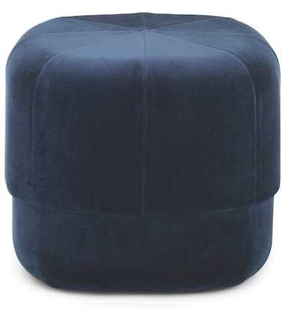 Circus pouf sittpuff velour small - Dark blue