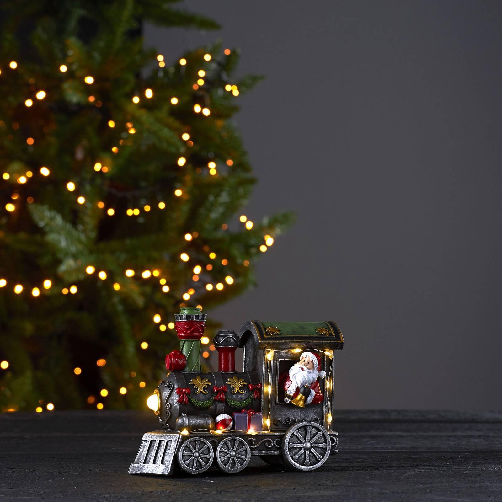 Loke-LED-koristevalaisin, joulupukki junassa