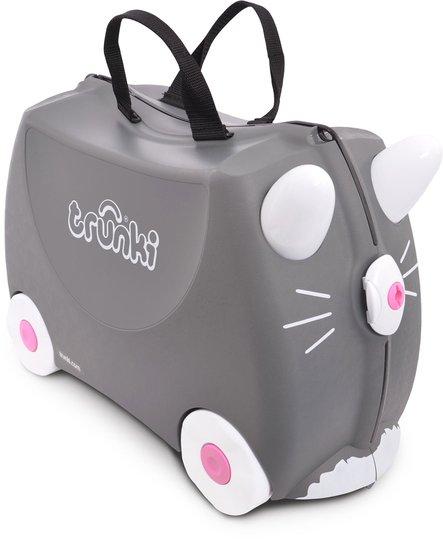Trunki Benny The Cat Trillekoffert 18L, Grey