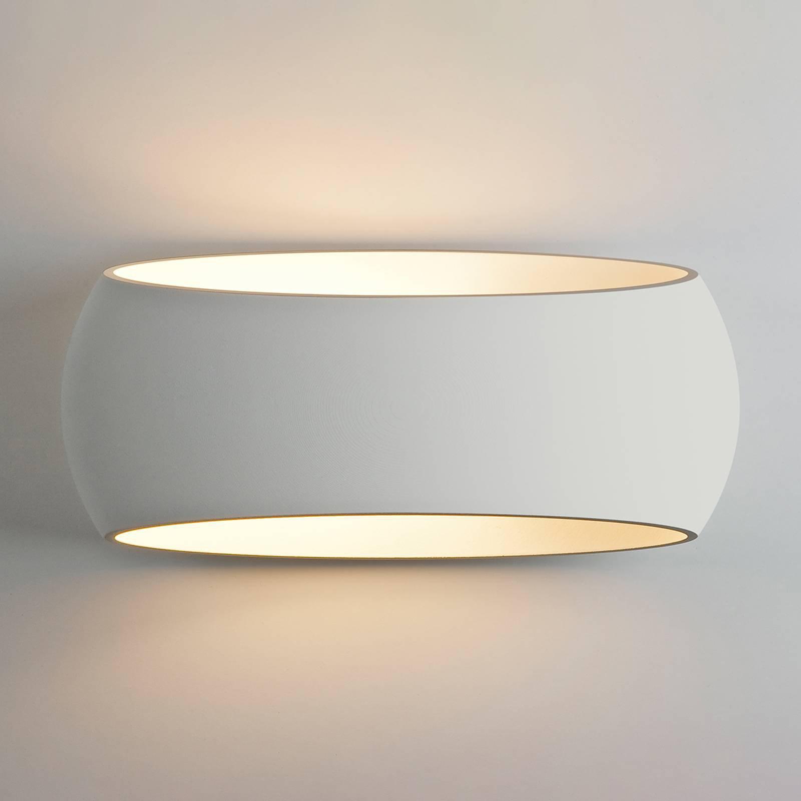 Vegglampe Aria i gips, kan utformes individuelt