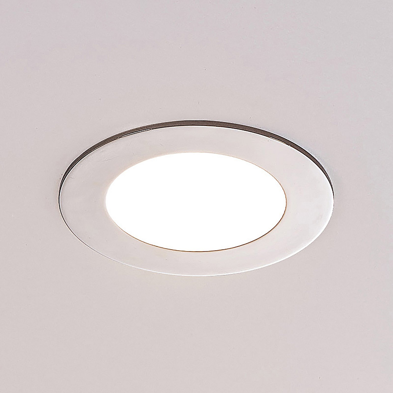 ELC Jupiter LED-downlight, 3-er sett i krom