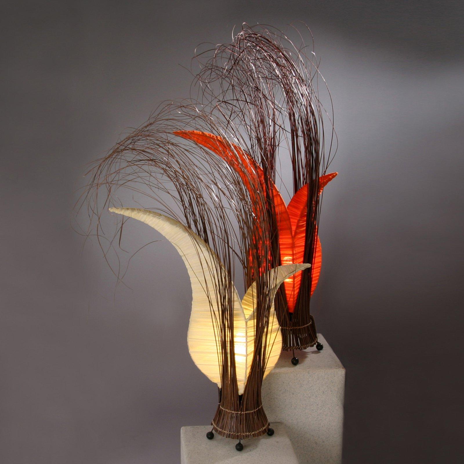 Bordlampe Bunga med blomsterform, oransje