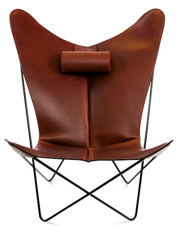 KS Chair Flaggermuslenestolen - Black/cognac