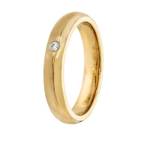 Diamantring i 18K guld, 21.0