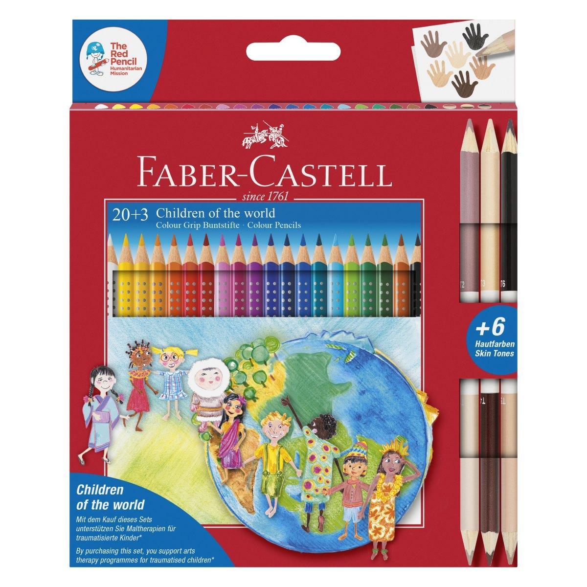 Faber-Castell - Colour Grip Children of the world pencil triangular 20+3 (201747)