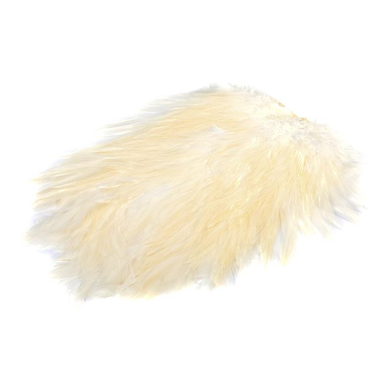 Feathermaster Rooster Cape White White