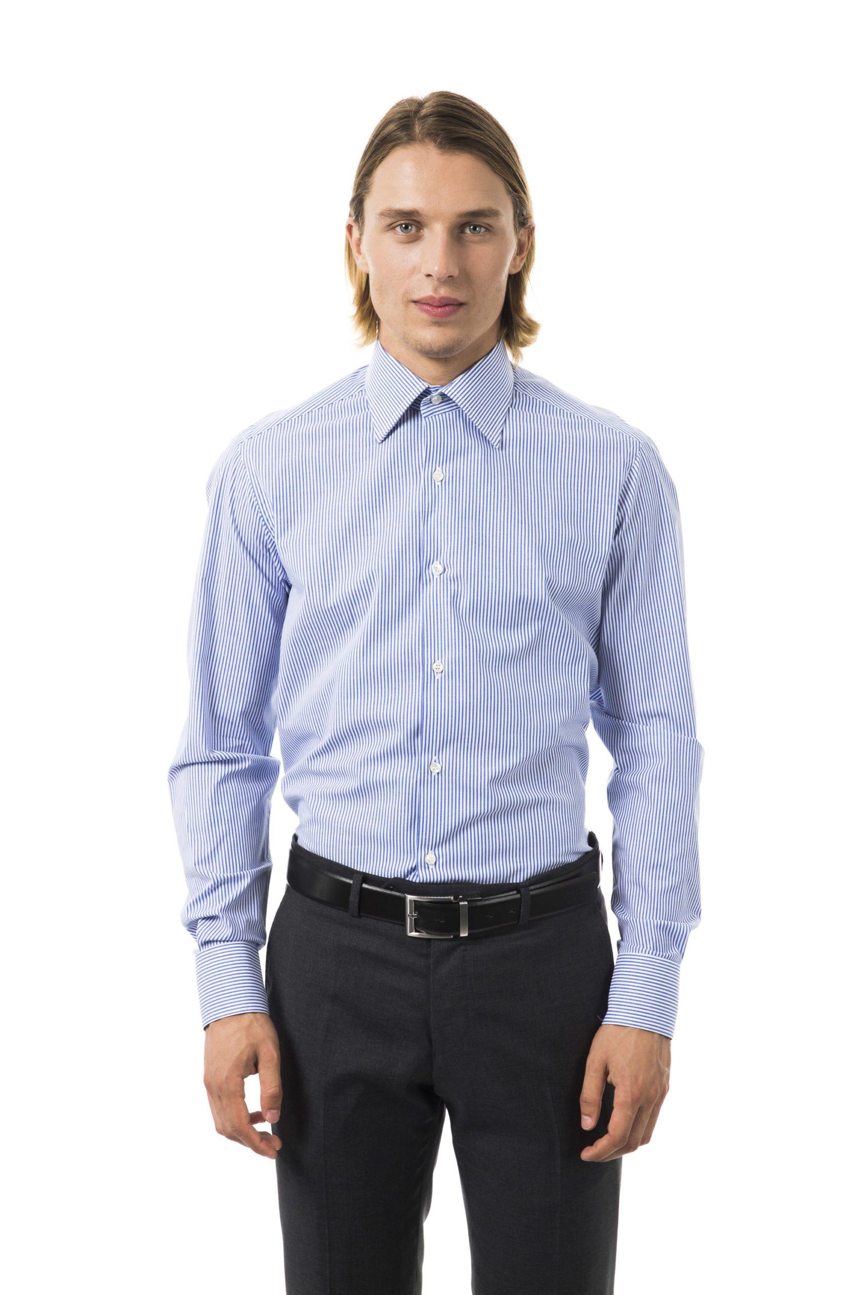 Uominitaliani Men's Azz Shirt Light Blue UO1394661 - XL