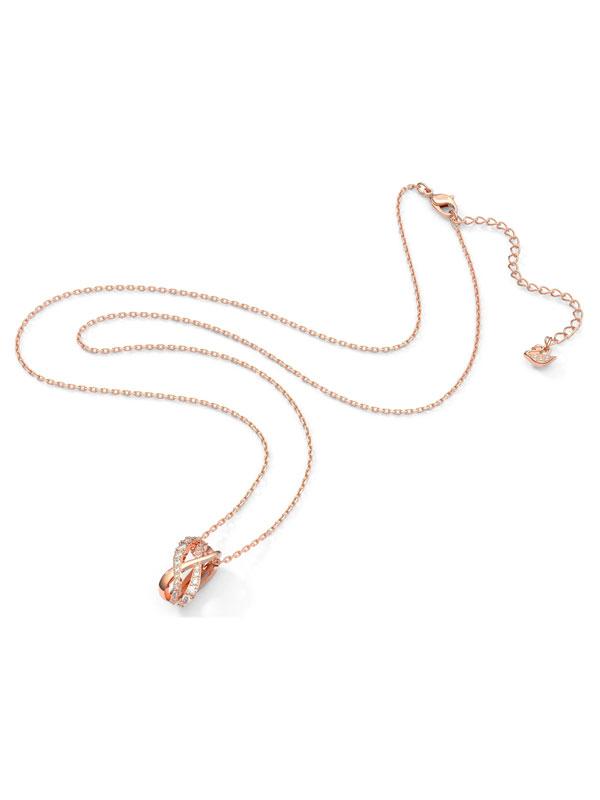 Swarovski Halsband Twist - Rosé 5620549