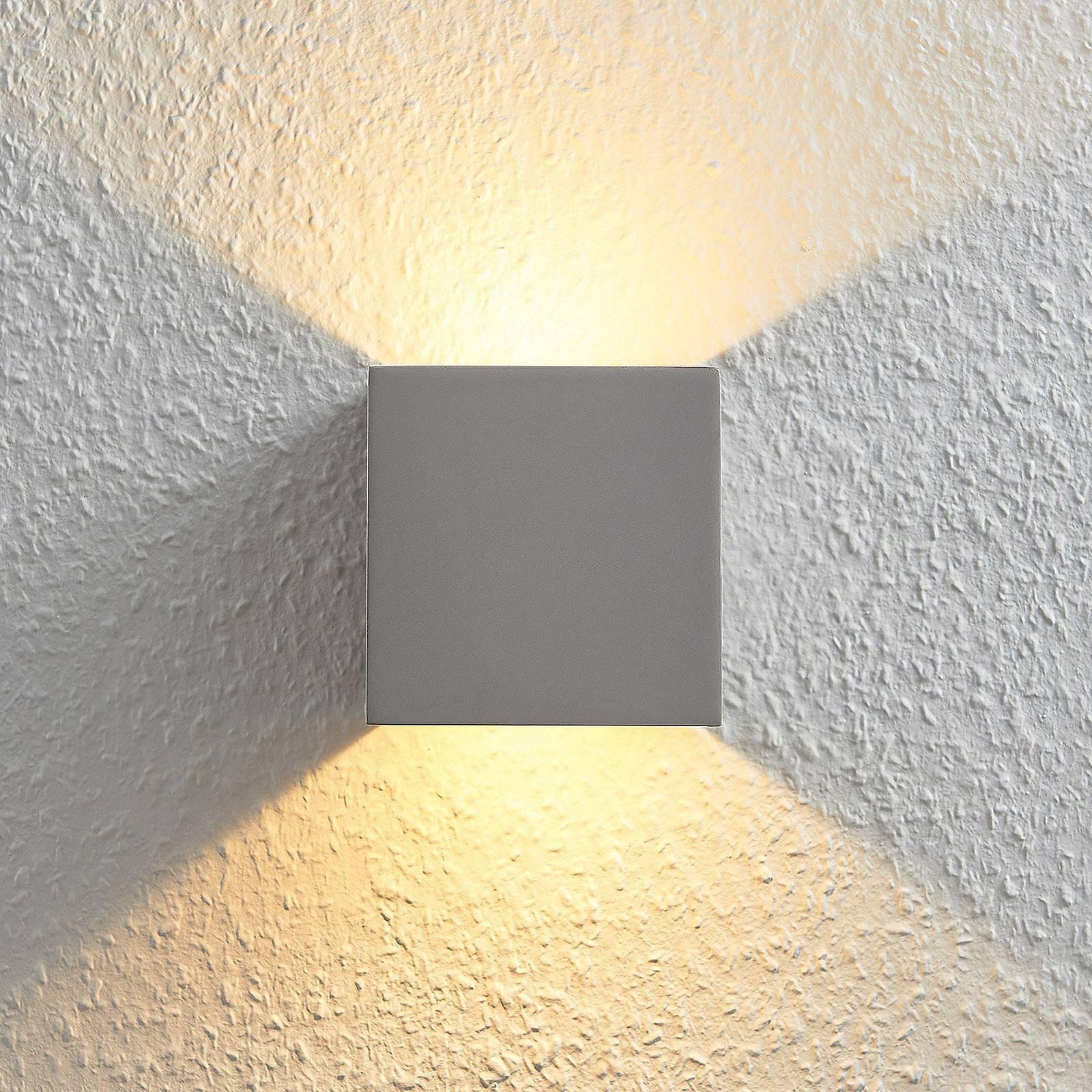 LED-vegglampe Cataleya betong Up&Down 11,5x11,5