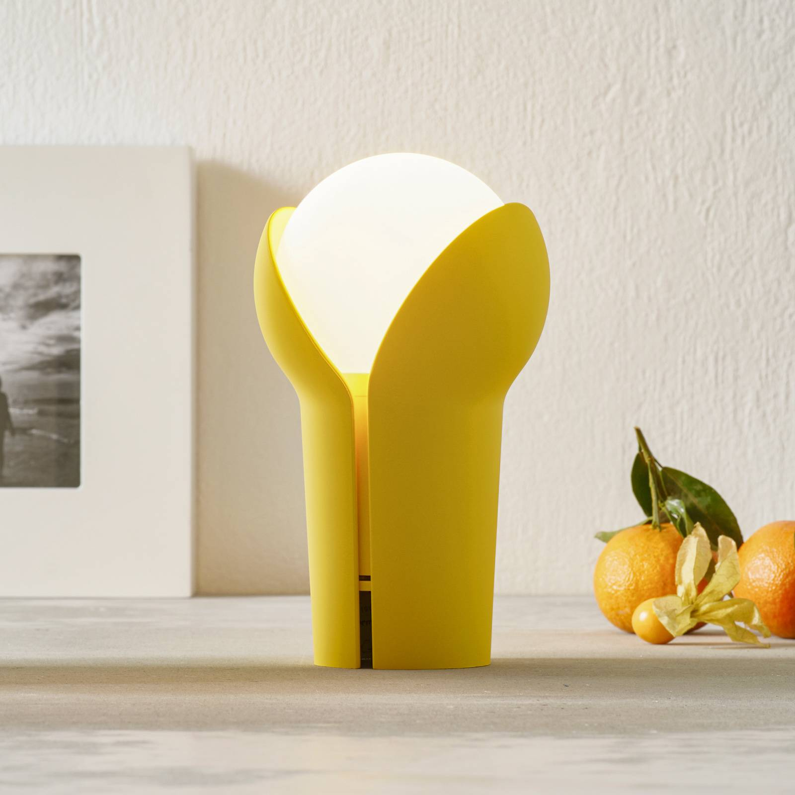 Innermost Bud -LED-pöytälamppu, langaton, Lemon