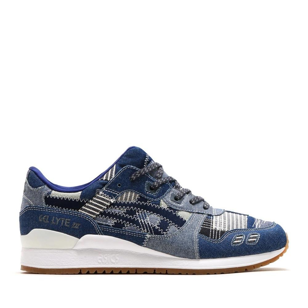 ASICS Men's Gel Lyte III Patchwork Trainers Various Colours 4549846291327 - 3.5 UK Blue
