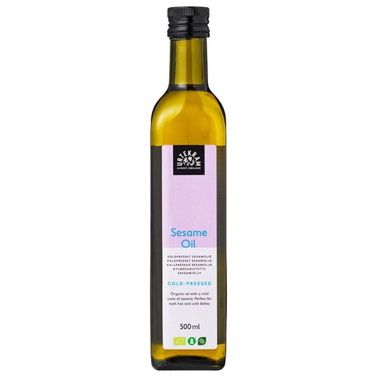 Urtekram Food Ekologisk Sesamolja Kallpressad, 500 ml