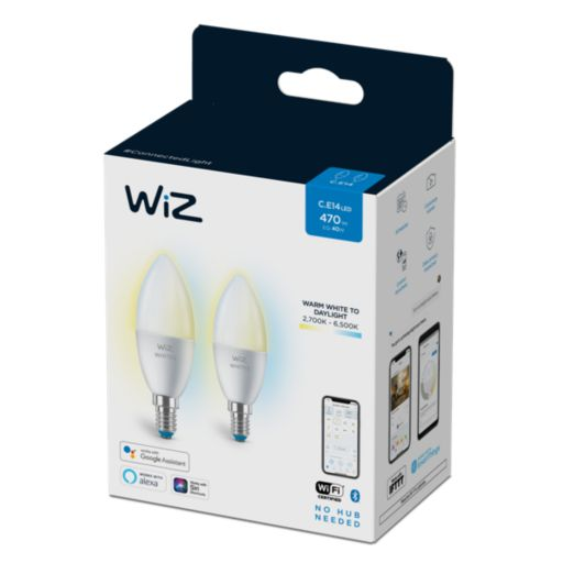 Wiz - Candle C37 E14 2 Pack
