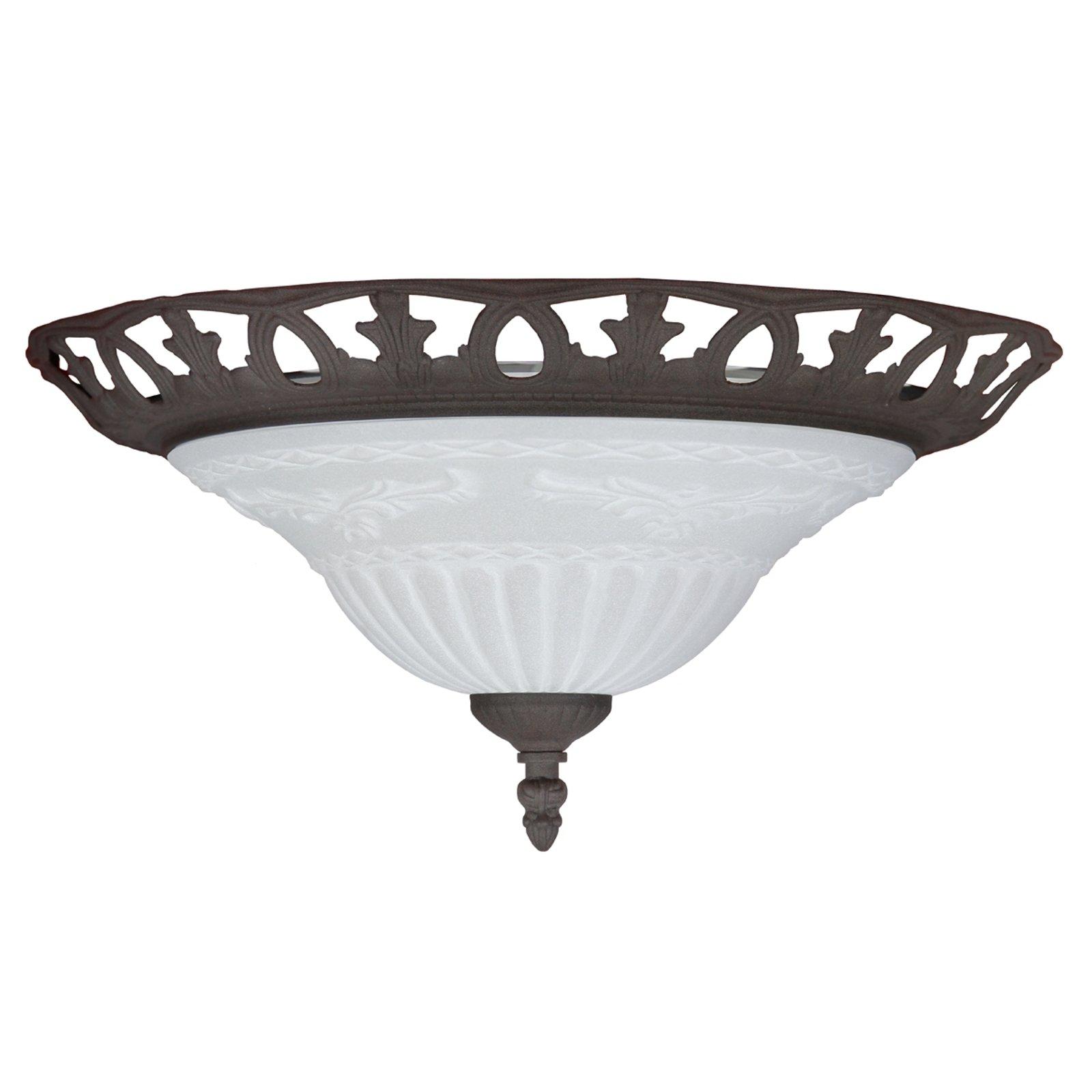 RUST taklampe i antikk design