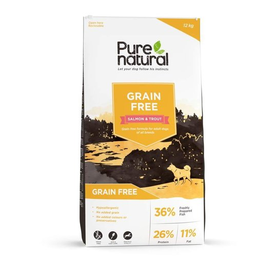Purenatural Grain Free Lax & Forell (12 kg)
