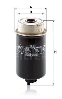 Polttoainesuodatin MANN-FILTER WK 8165