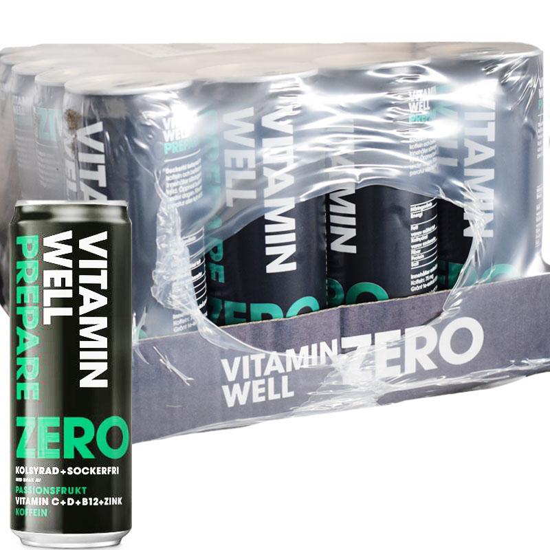 Vitamin Well Prepare Zero Passionfrukt 24-pack - 63% rabatt
