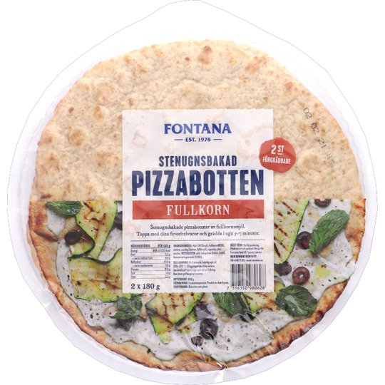 Pizzabotten Fullkorn 2-pack - 28% rabatt