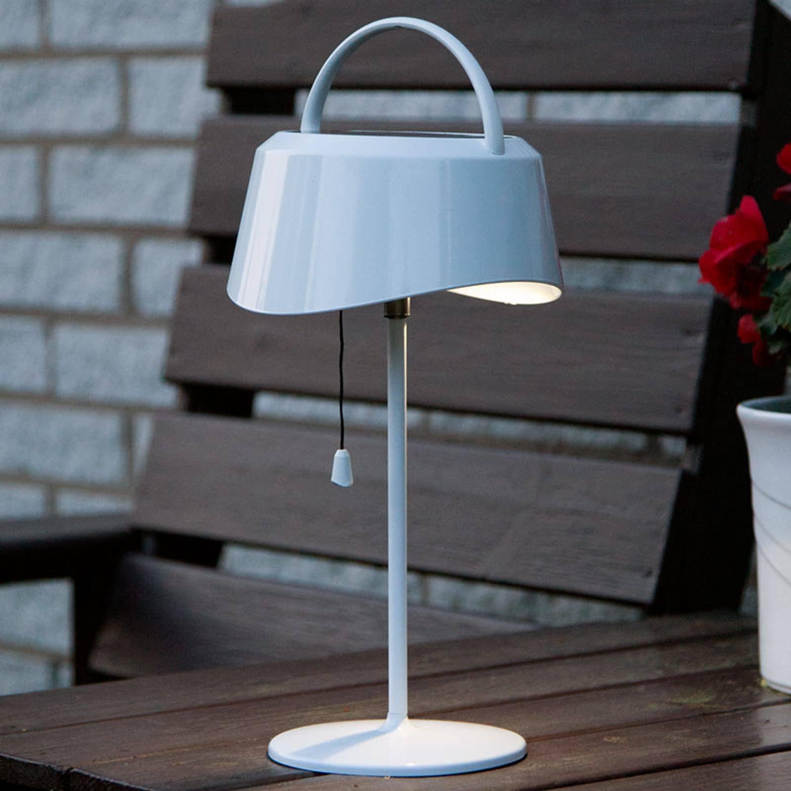 Soldrevet LED-bordlampe Cervia - vippbar