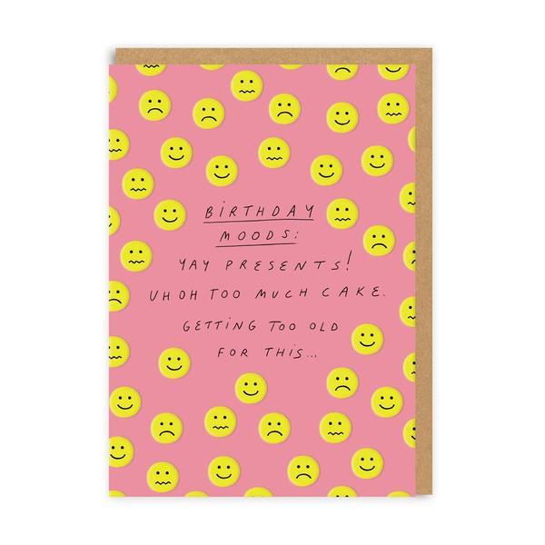 Birthday Moods Greeting Card