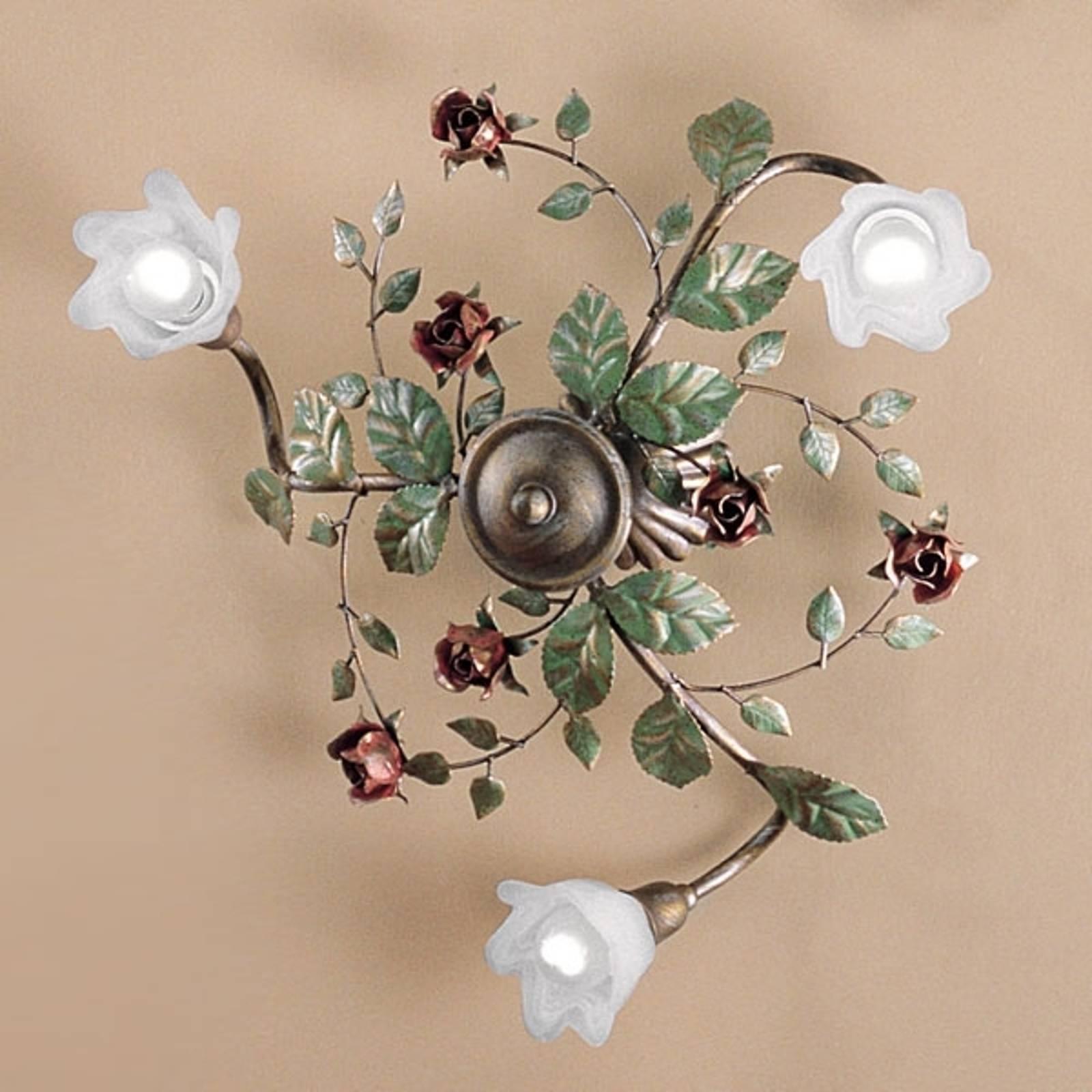 Rosaio-kattolamppu, pyöreä, 3-lamppuinen
