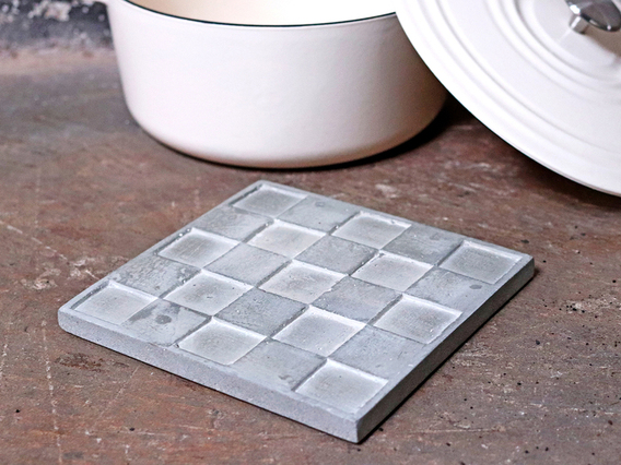 Cement Square Trivet