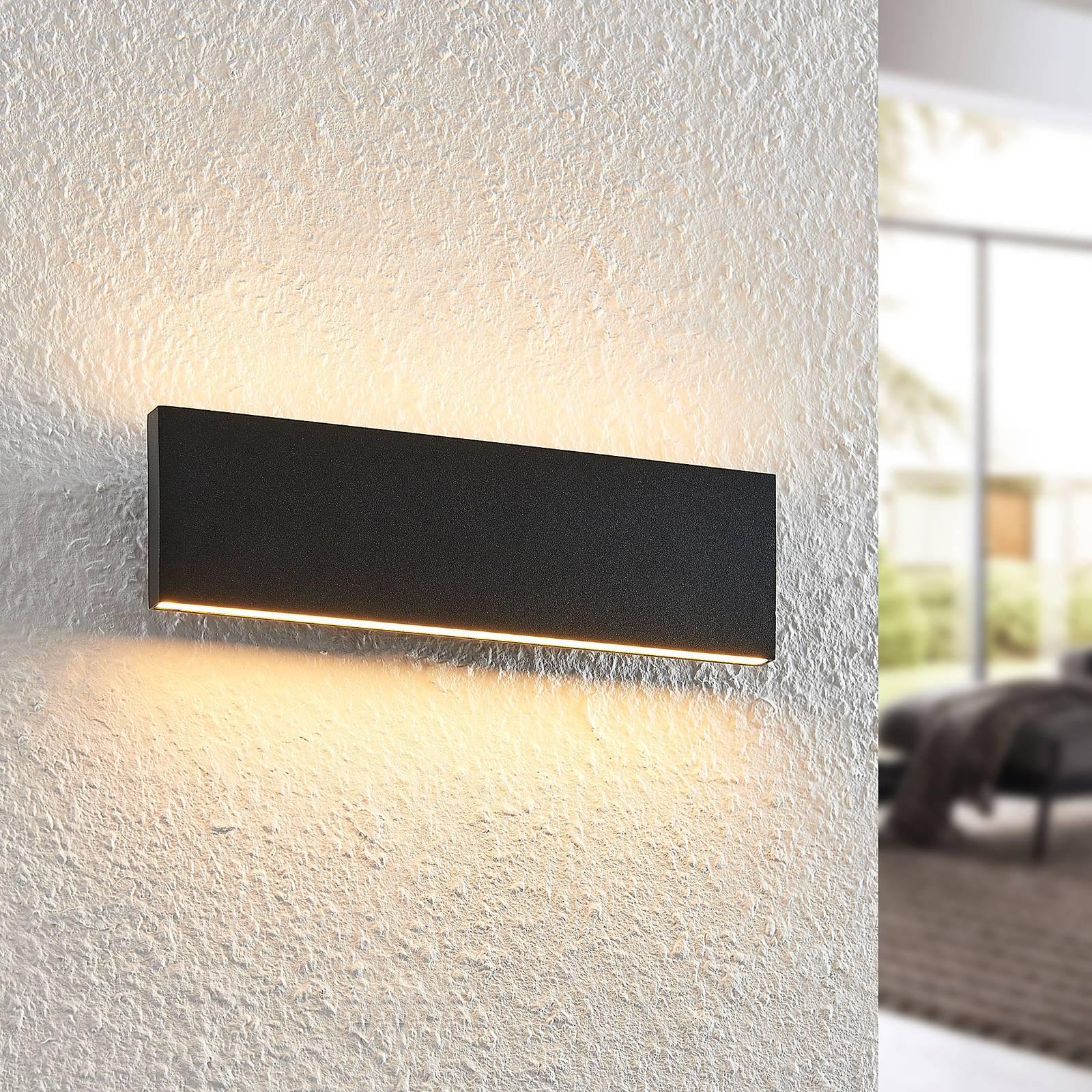 Lindby Ignazia -LED-seinävalaisin, 28 cm, musta