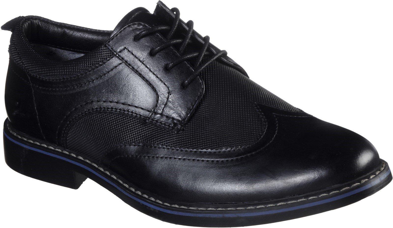 Skechers Men's Bregman Modeso Lace Up Shoe Various Colours 30747 - Black 6