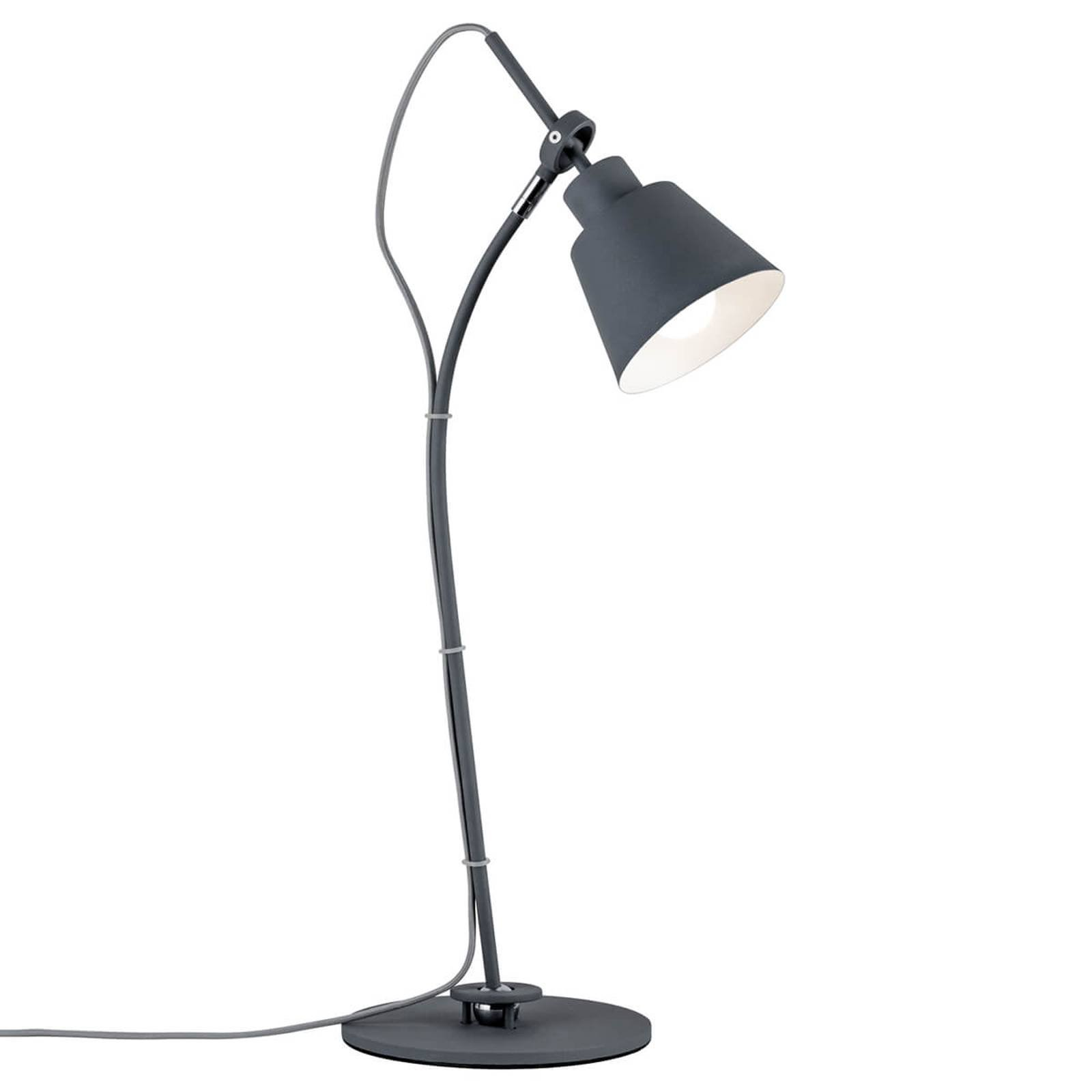 Bøybar bordlampe Thala i trendy grått