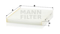 Raitisilmasuodatin MANN-FILTER CU 2129