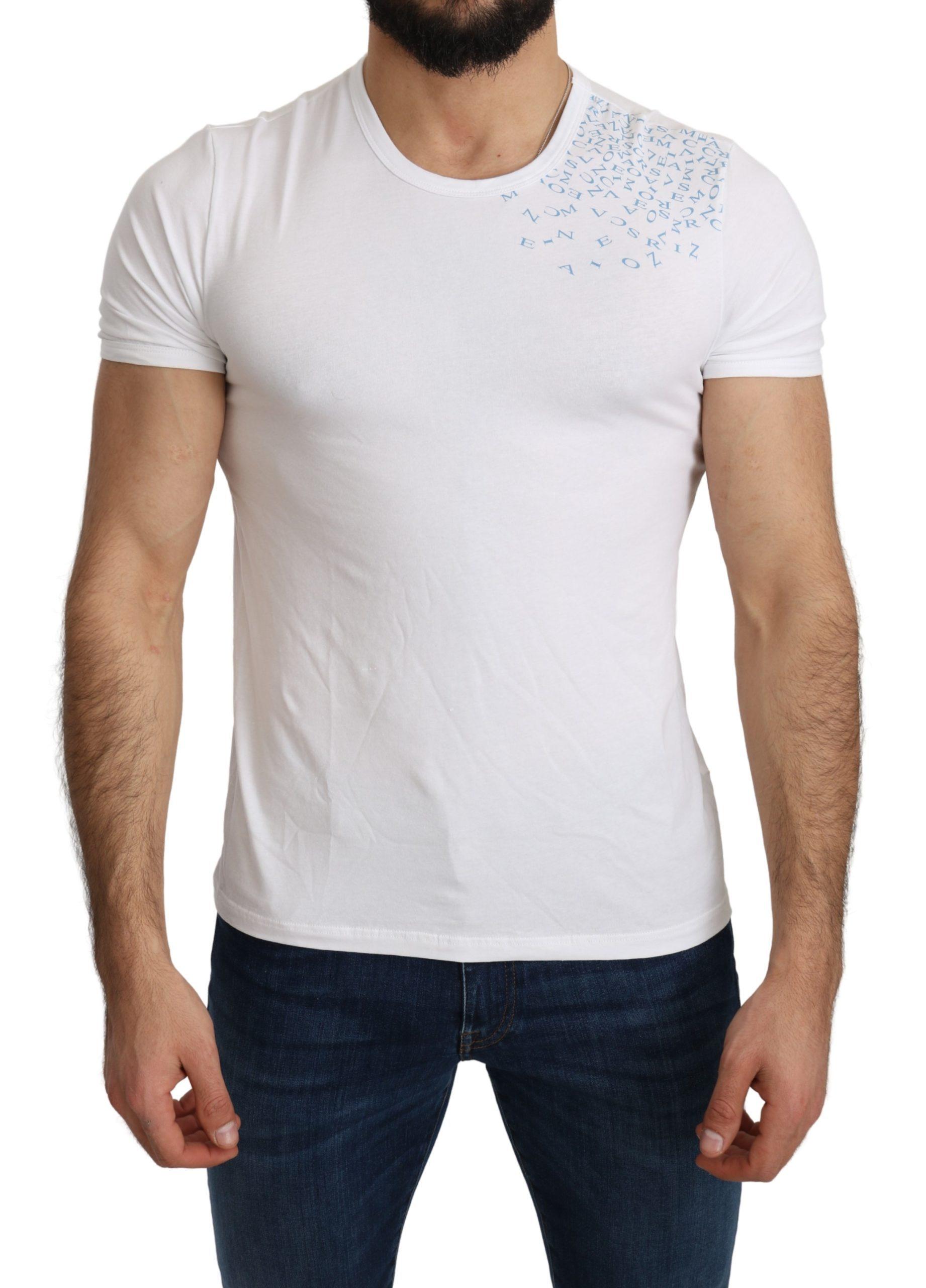 Ermanno Scervino Men's Cotton Stretch Beachwear T-shirt White TSH5181 - IT48 | M