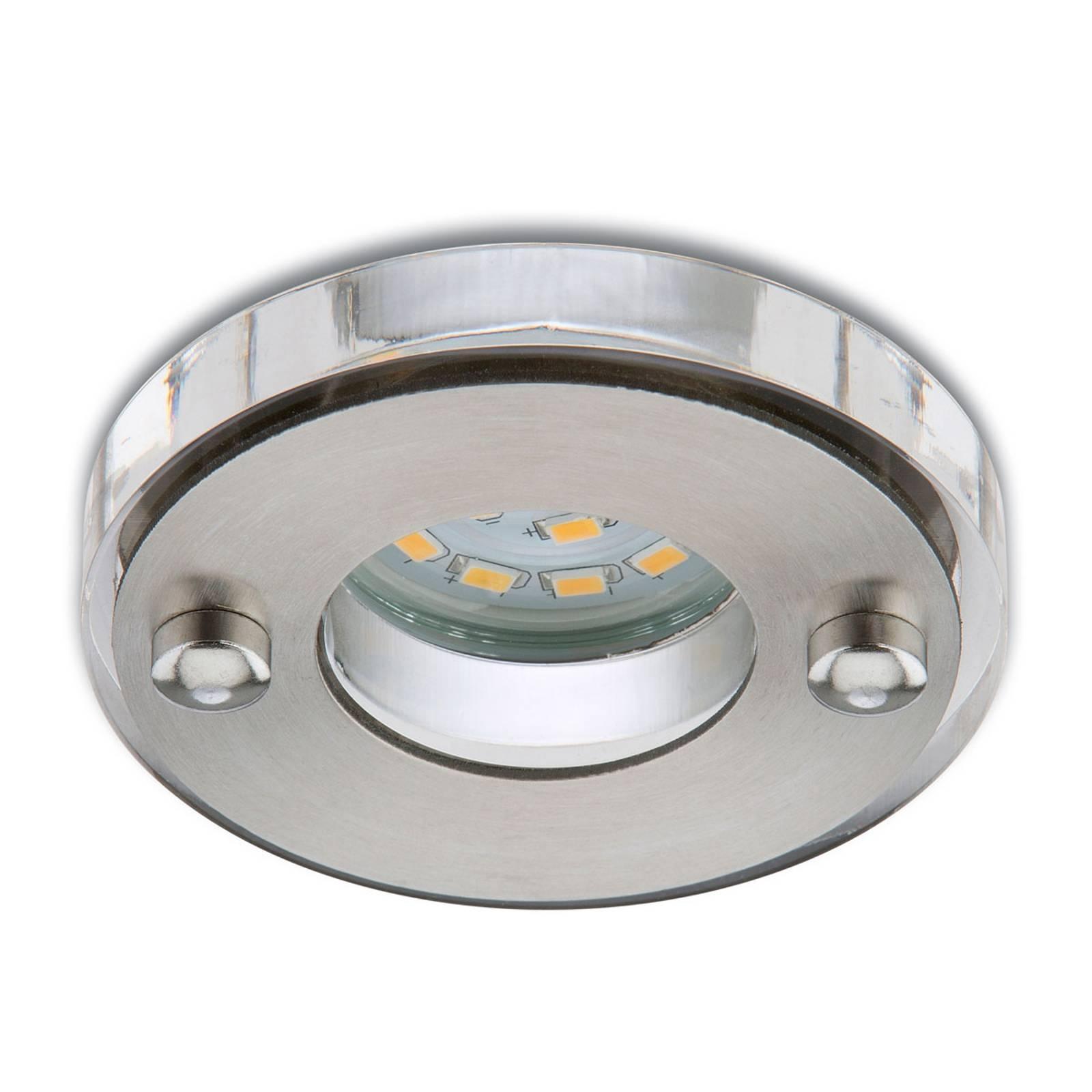 Matta nikkeli LED-uppokohdevalaisin Nikas IP23