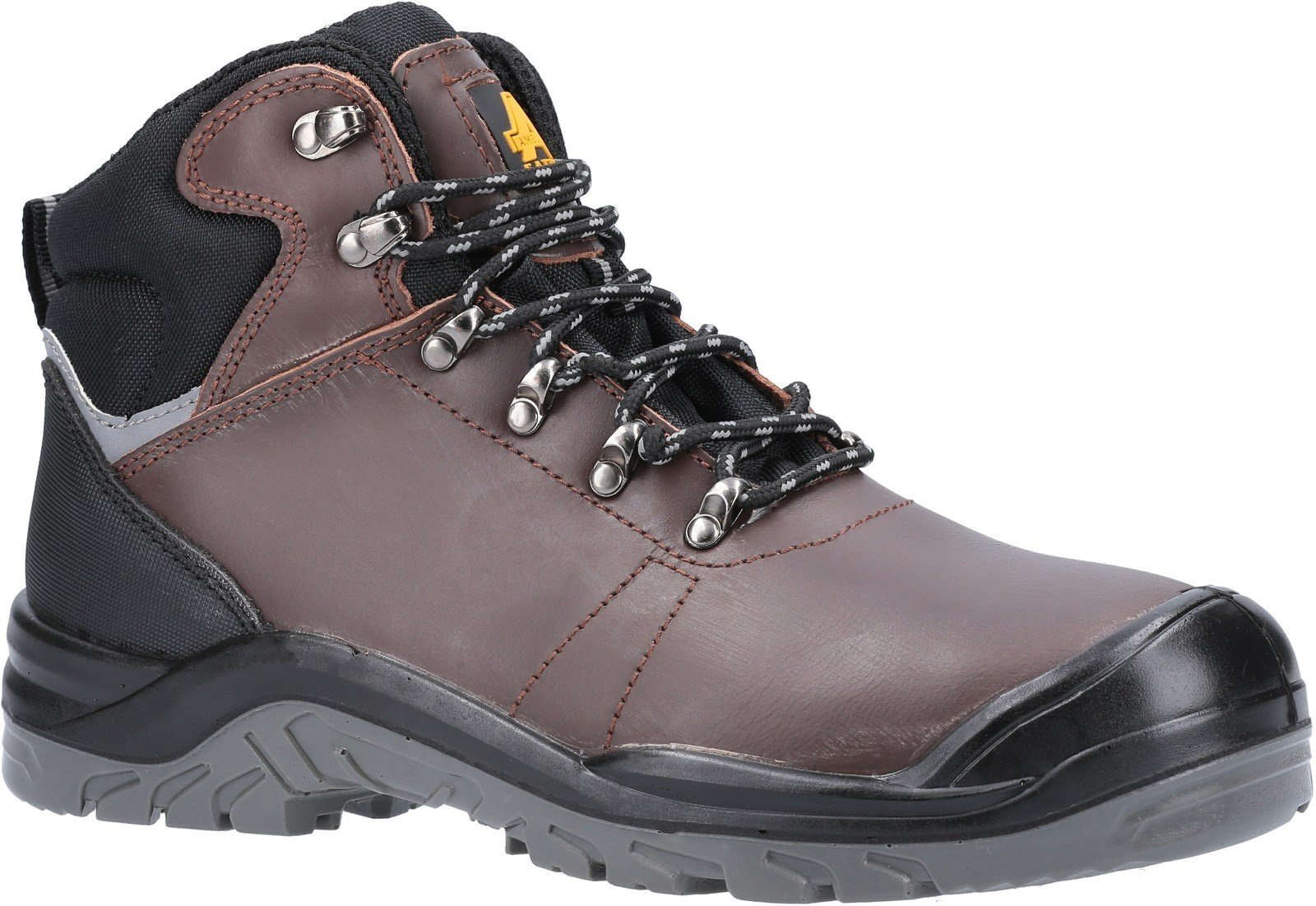 Amblers Unisex Safety Laymore Water Resistant Leather Boot Brown 27771 - Brown 6