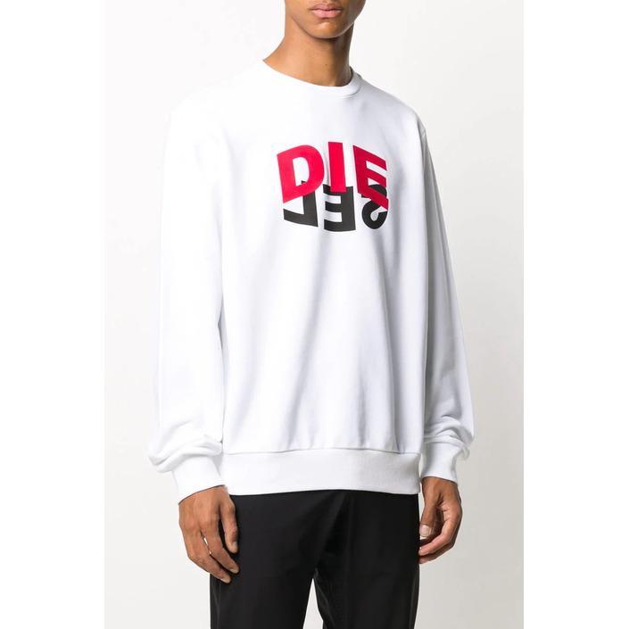 Diesel Men's Sweatshirt White 294022 - white L